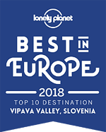 LONELY PLANET - Best In Europe 2018 - Vipava Valley, Slovenia